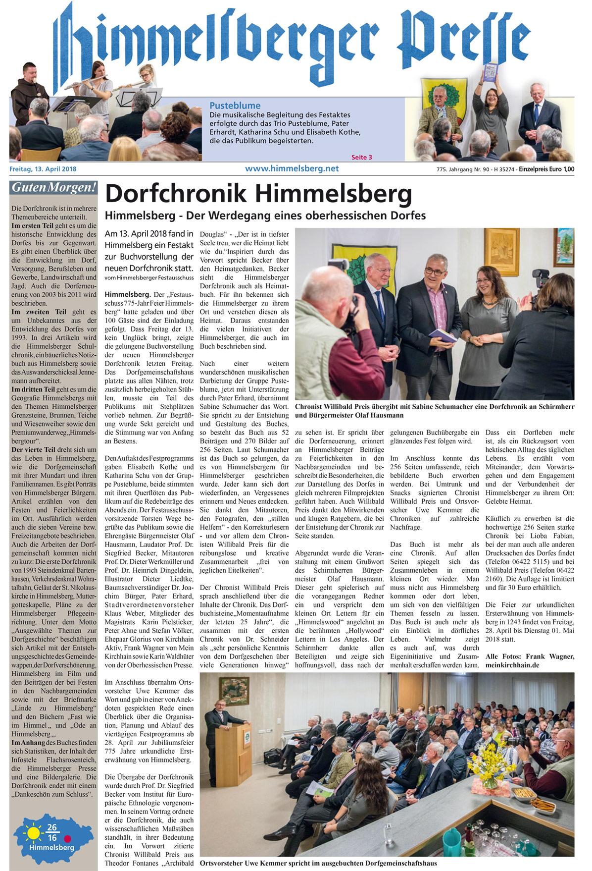 Himmelsberg Hessen Aktuelles